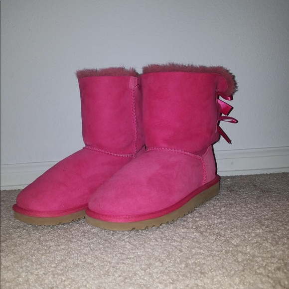 UGG Shoes   Size 4 Usa Pink S With Bows